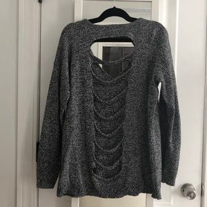 Sweaters - Express oversized sweater with black cut outs